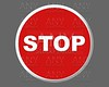 Stop traffic red round signal illustration