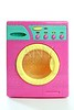Colorful pink yellow clothes toy washing machine