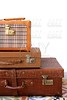 Aged old luggage leather vintage bags