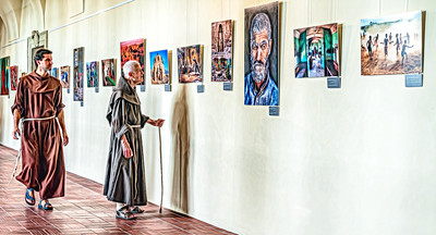 Monks view exhibition