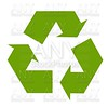 Recycle green symbol illustration on white