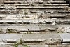aged weathered ancient roman stairs
