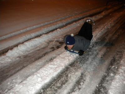 Night Sledding   jan 10, 2011
