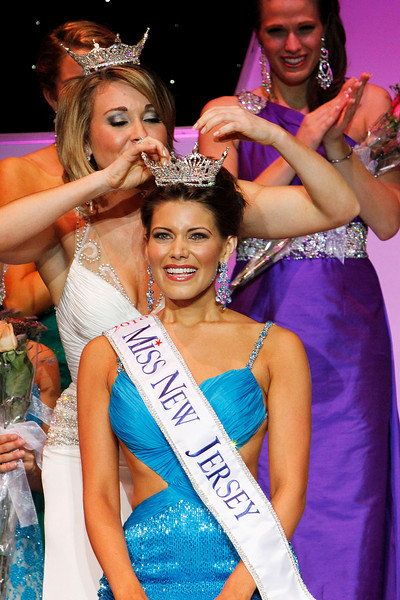 OCEAN CITY, NJ June, 19, 2010 Miss All-State, Ashleigh Udalovas age 22  is crowned Miss New Jersey 2010 by former Miss New Jersey, Ashley Shaffer on the Ocean City Music Pier.