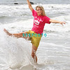 Ocean City, NJ - Miss New Jersey 2011, Katharyn Nicolle, age 20, kicks up ocean water on Sunday June 19, 2011 after being crowned the previous evening.