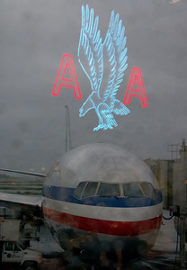 AA logo and jet