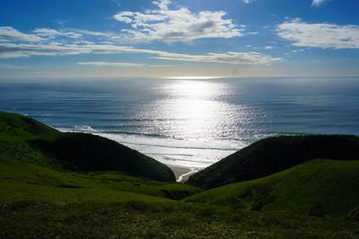 A blue day in California