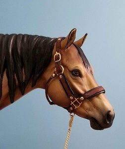 Miniature Black and Brown Padded Halter