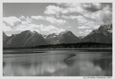 The Grand Tetons from Jennys Lake