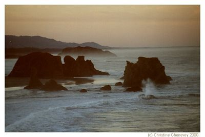 Haystacks on the Oregon coast