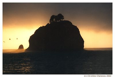 Another sun set on the ocean. This haystack is in Lapush, Washington