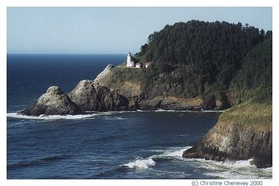 Light house near the cave of the seals Oregon.