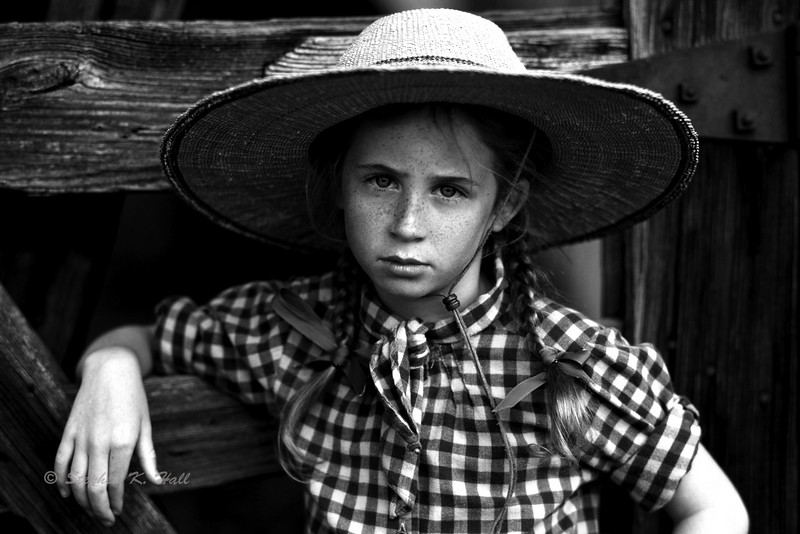Girl with hat