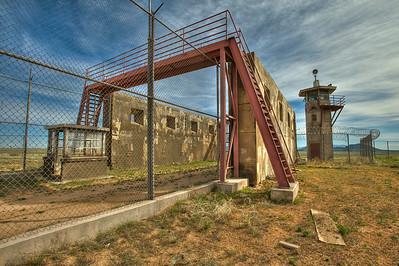 Guard tower, prison yard