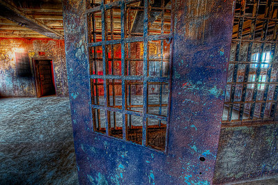 Prison dreams, rusting door