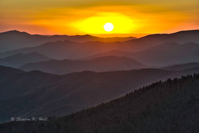 Sunset, Clingman's Dome.  Great Smoky Mountains National Park, North Carolina/Tennessee