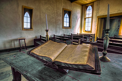 Bible, church interior