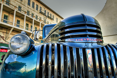 Old Chevrolet, Alcatraz Island. San Francisco, California