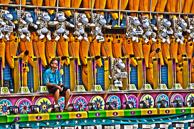 """Step right up"", California State Fair. Sacramento, California"