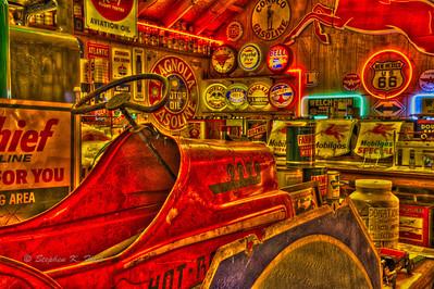 Gasoline memorabilia. Embudo, New Mexico