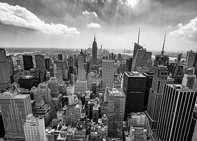 Top of the Rock B/W