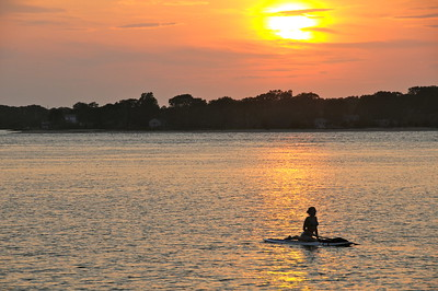 Sunset and the Paddle Boarder