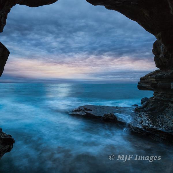 Sea Cave at Dusk