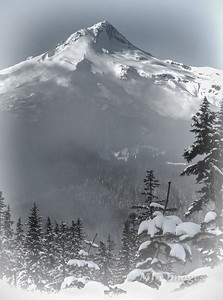 Mount Hood in Mid-Winter