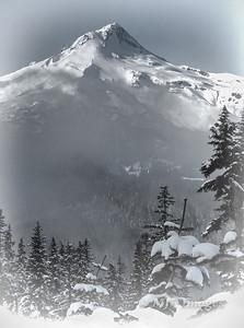 Mount Hood in Mid-Winter