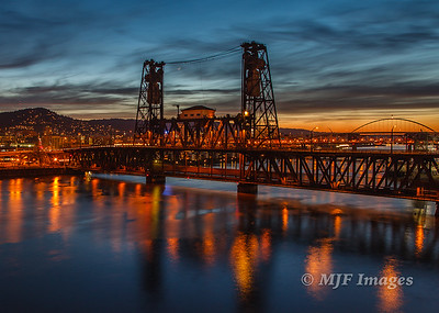 Steele Bridge at Twilight