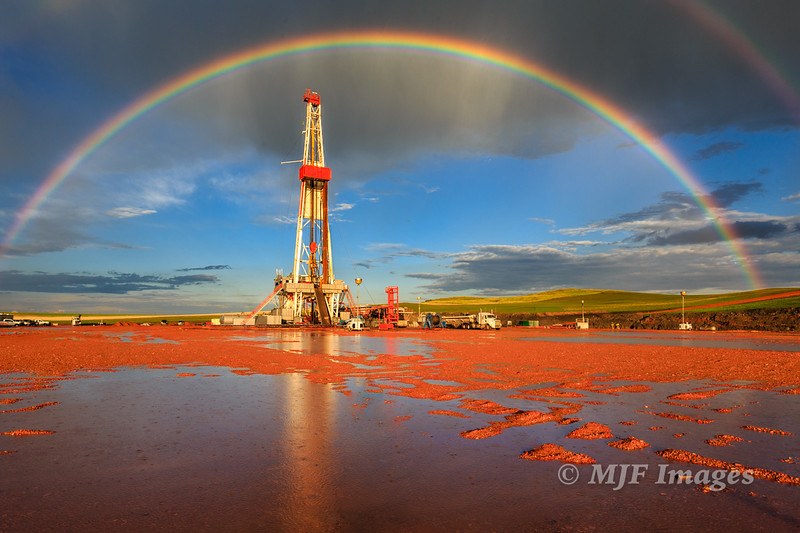 Rainbow over the Rig