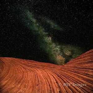 Milky Way over Slickrock