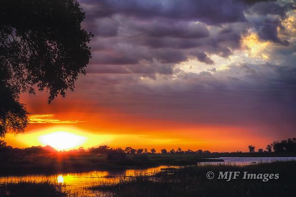 Sunrise over the Okavango