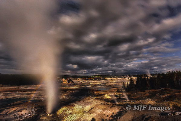 Midnight at Norris Geyser Basin