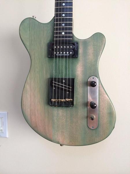 #14001 MJR-128-SH Mahogany Body/Green Relic