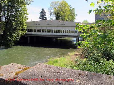 Renton Library over Cedar River