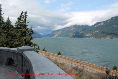 overlook to Columbia River along Highway 30