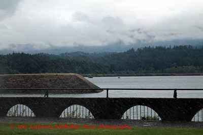 View of Columbia River from Cascade Locks' Marine Park