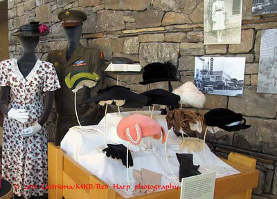 Columbia Gorge Discovery Center, The Dalles, OR fashion and hat display from 1940's