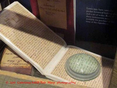 Columbia Gorge Discovery Center, The Dalles, OR reproduction of one of Lewis's journals