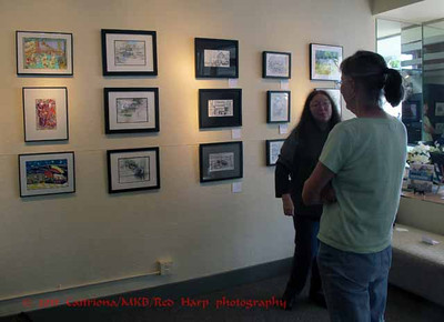 Beth Betker and Michelle Abbott discuss how to display the art