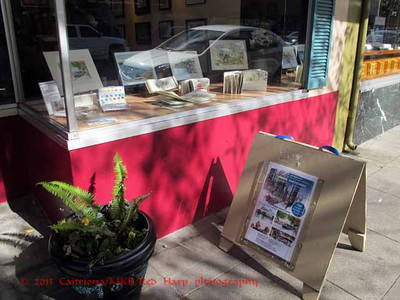 The window display for the show