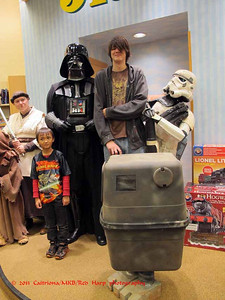 This young man is taller than the very tall Vader