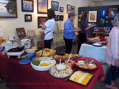 We assembled plenty of food for the Gallery North reception.