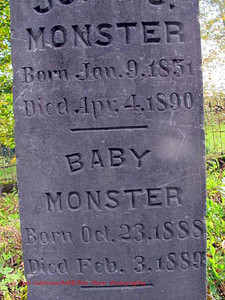 Baby Monster born Oct. 23, 1888; died Feb. 3, 1889.