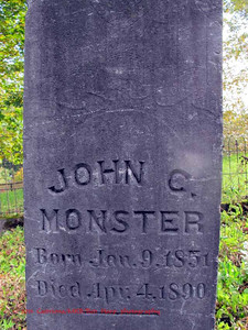 John C Monster; born 1851, died 1890
