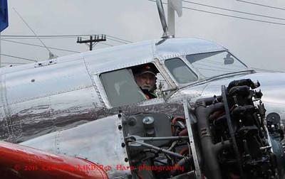 volunteers in the cockpit