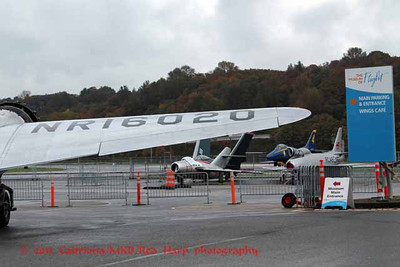 What's happening here?  N number for Amelia's plane, Museum of Flight signs and evicted jets.