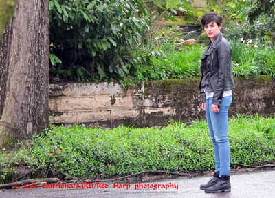 """Photographed in March 2014 while watching filming during my visit to Portland.    Meet Teresa """"Trubel"""" Rubel, a young woman played by newcomer Jacqueline Toboni, a University of Michigan student who was discovered when one of the show's producers visited the school in February.  She's a new Grimm!"""