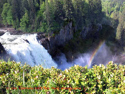 Snoqualmie Falls.  There was so much mist it created a rainbow.